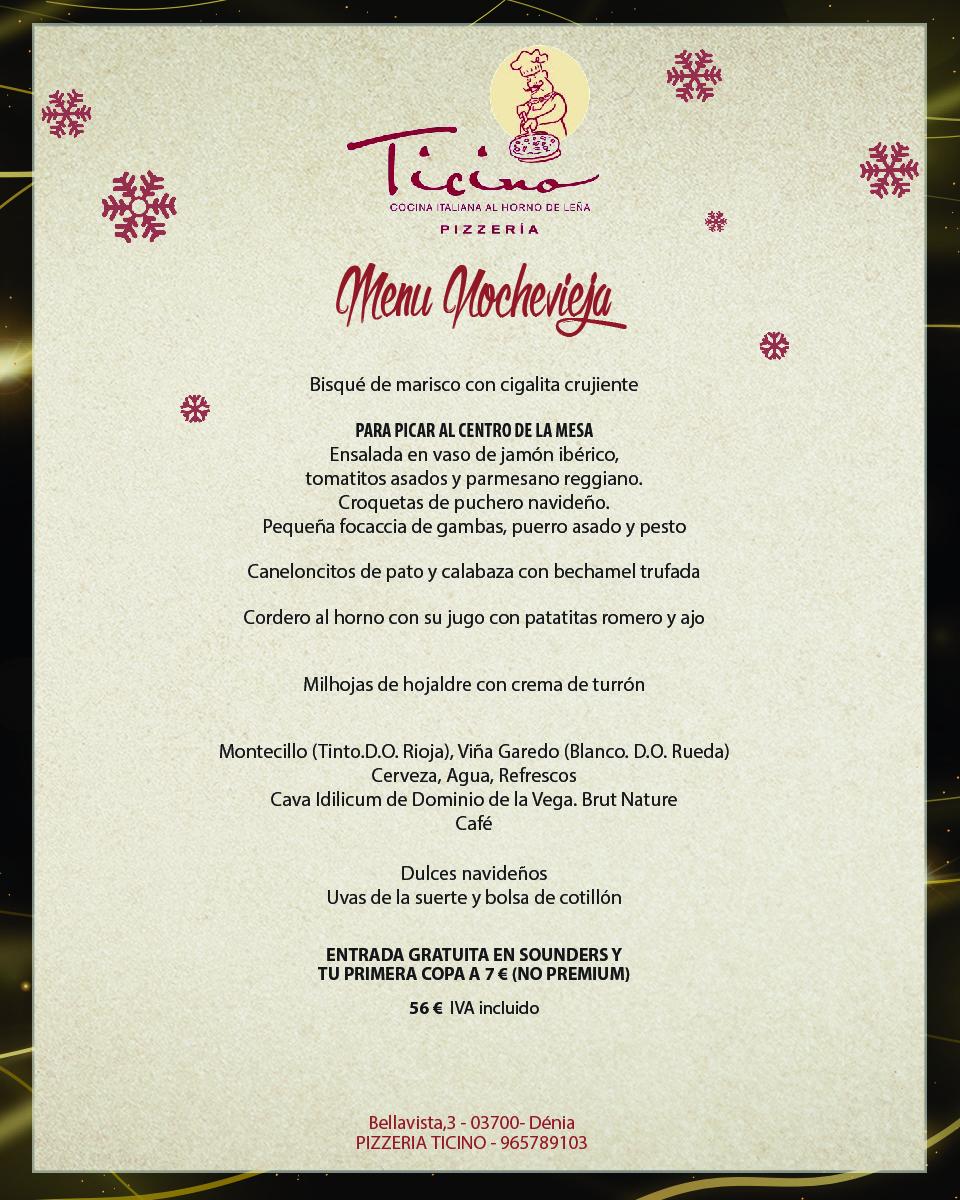 Menu Nochevieja Ticino