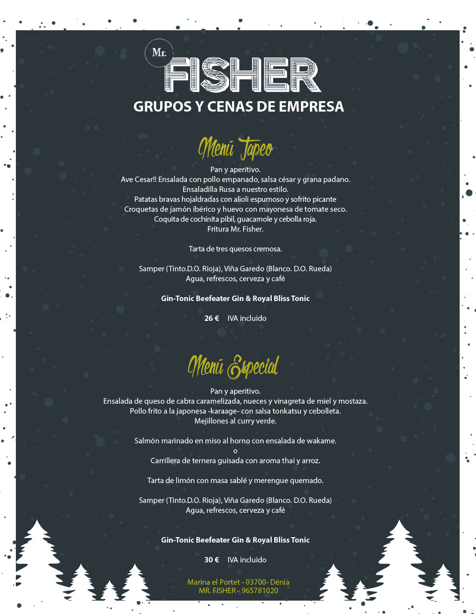 Menu grupos mr fisher