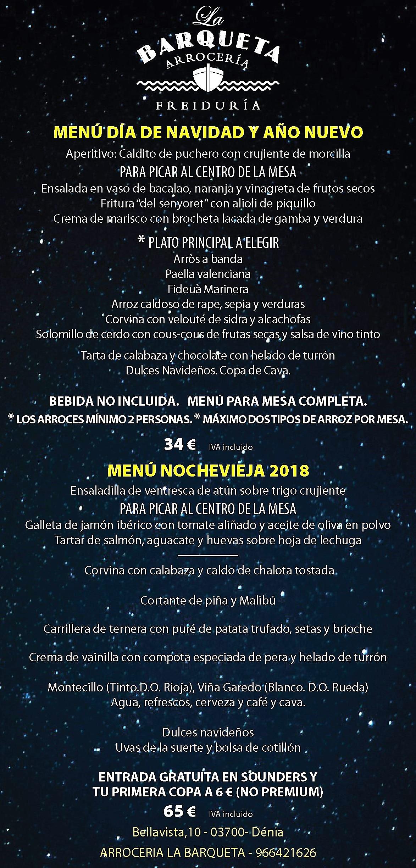 NAVIDAD NOCHEVIEJA BARQUETA 2018