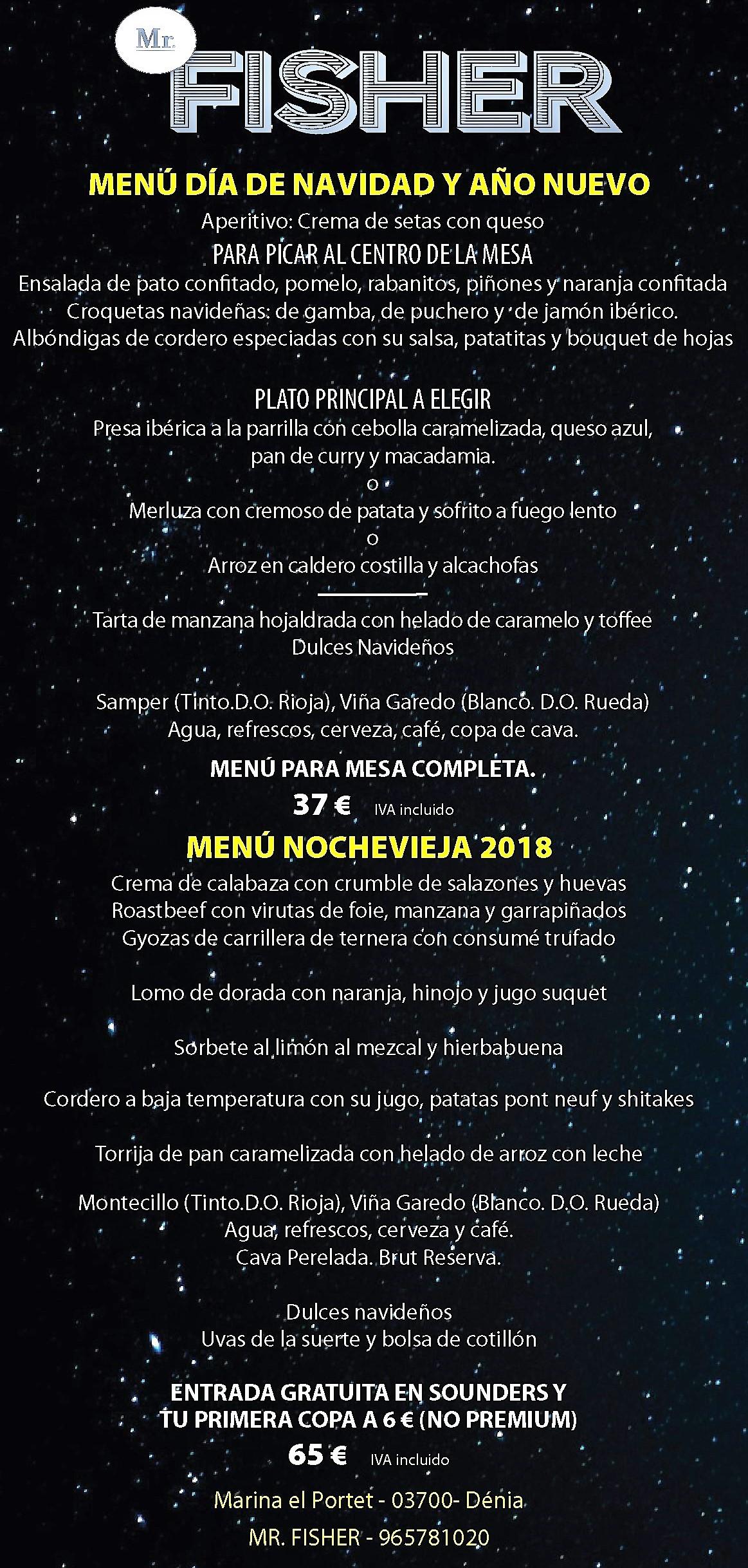 NAVIDAD NOCHEVIEJA FISHER 2018