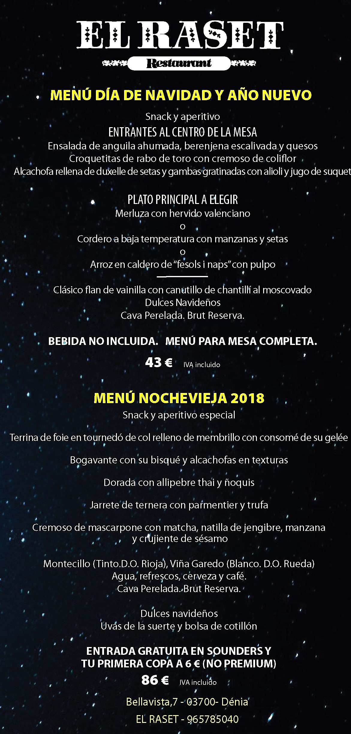 NAVIDAD NOCHEVIEJA RASET 2018