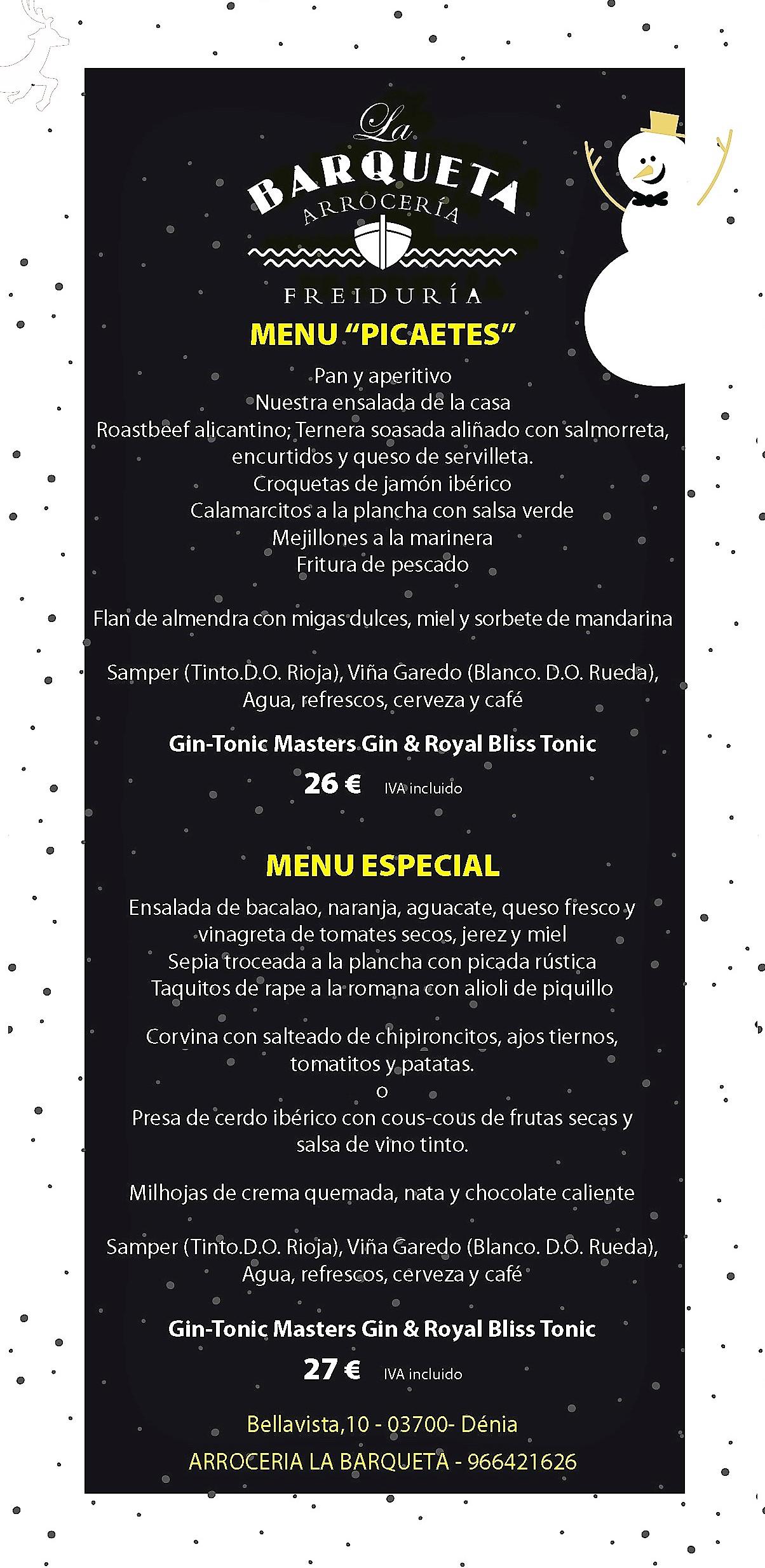 grupos menu barqueta 2018